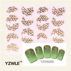 0.10$  Buy here - http://ali596.shopchina.info/go.php?t=32580704529 - YZWLE 2016 Hot Selling 1 Pc 3D New Style Gold Sticker Nail Gold Sticker 0.10$ #buyininternet