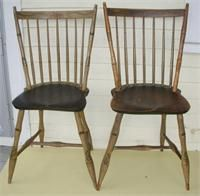pair of Windsor chairs New England c. 1800