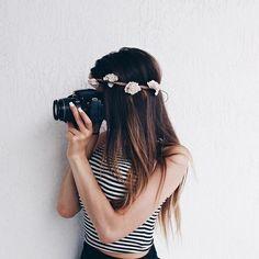 Картинка с тегом «girl, hair, and flowers»