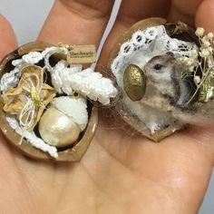 2917. Miniature Walnut doll♡ ♡