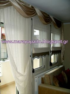 Interior design-curtains. Curtains decoration.Patterns of curtains. Mara Papado - Designer's workroom - Curtains ideas - Designs: Κλασικά σχέδια Ρόμαν για το σαλόνι