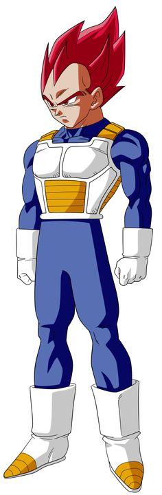 Vegeta - Super Saiyajin Dios Rojo - Manga - DRAGÓN BALL SUPER