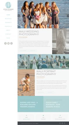 Photography #website by BrandAndBrush.com.  #Maui #Hawaii #webdesign #rebranding #branding #responsive #webdesigner #inspiration #design
