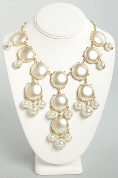 Bubble Over Cream Statement Necklace  Get 7% Cash Back http://www.studentrate.com/itp/get-itp-student-deals/lulu-s-Student-Discount--/0
