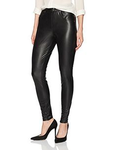 e5a3e15a539ad2 HUE Womens Leatherette Curvy Leggings Black Large * Details can be found by  clicking on the image.