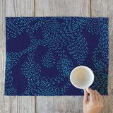 """Underwater"" - Abstract, Flora & Fauna Placemats in ocean blue by Christina Flowers."