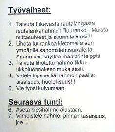 Kipsityö - vaiheet (ohje).