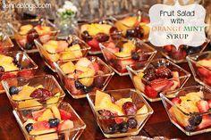 Fruit Salad with ORANGE MINT Syrup