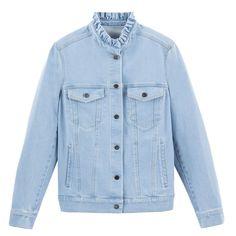 👓🧣😘🧥😇👠😲👜😍🥽🤩👚🙄👑🤩🤪 Raw Denim, Jeans Denim, Jean Beige, La Redoute Catalogue, Denim Button Up, Button Up Shirts, Jeans Bleu, Short En Jean, Lingerie
