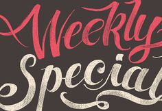 Weekly Special Type on Behance