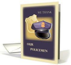 Thank Our Policemen  card (412917)
