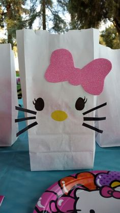 Hello kitty party diy goodie bags