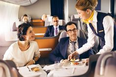 World's Best Airlines for In-Flight Service Trvl & Leisure Best Airlines, Formation Continue, Fly Around The World, Restaurant Service, Airline Flights, Business Class, Air Travel, Flight Attendant