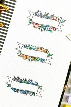 Already have your bujo layouts and spreads setup for this month but need to add some decoration! Check out these super fun banner doodles and tutorials for inspiration! Bullet Journal Lettering Ideas, Bullet Journal Banner, Journal Fonts, Bullet Journal Notebook, Bullet Journal School, Scrapbook Journal, Bullet Journal Ideas Pages, Bullet Journal Inspiration, Bullet Journals