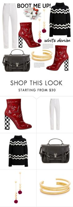 """""""Graffiti Ankle Boots"""" by hastypudding ❤ liked on Polyvore featuring Dolce&Gabbana, Eve Denim, Joseph, Proenza Schouler, Elizabeth and James, Madewell and Elle"""