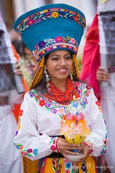 "South America, Ecuador, Pinchincha Province, Quito.  Procession during Holy Week (Semana Santa) on the Tuesday before Easter called ""Entrada de los Jocheros"""