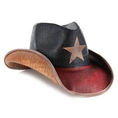 Peter Grimm Women's Lone Star Straw Cowboy Hat - #CowgirlChic