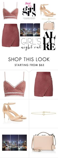 """""""Girls Night Out!"""" by prettypinkpaquino ❤ liked on Polyvore featuring Zimmermann, Michelle Mason, Lee Renee and Mark Cross"""