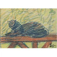 Blue Cat--Steinlen