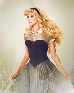 "Princess Aurora. Envisioning Disney Characters in ""Real Life"" by Jirka Väätäinen, via Behance"