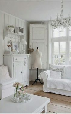 With the right materials, a modern interior could be transformed to look similar to this (windows might have to look different, depending on budget)