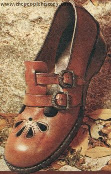 School shoes, sometimes black, sometimes navy blue, or this brown.
