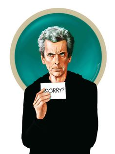 The 12th Doctor - ''Sorry?'' by luluha (deviantART) --Doctor Who.S09E03E04 - ''Under the Lake'' and ''Before the Flood'' (Doctor Who - BBC Series)  source: http://luluha.deviantart.com/art/Sorry-564231567
