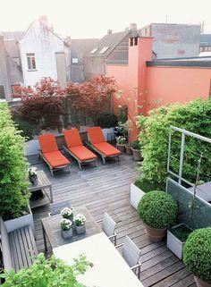 colorful rooftop garden via inspiration maison. / sfgirlbybay