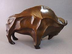 """Bronze """"Great Spirit Buffalo"""", Philip Haozous (Chiricahua Apache)"""