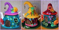 Crochet Fairy House Teapot Cozy Free Patterns
