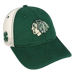 Get this Chicago Blackhawks St. Paddy's Summertime Adjustable Cap at WrigleyvilleSports.com