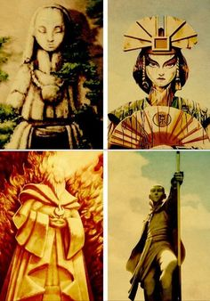 Avatar the Last Airbender: the avatars forever preserved in statue forms