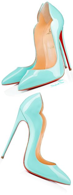 Christian Louboutin 'Hot Chick' in Aqua  ♔Très Haute Diva♔