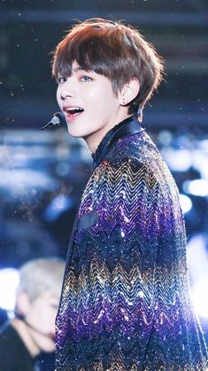 BTS V Looks like Howl changing from bird back to human