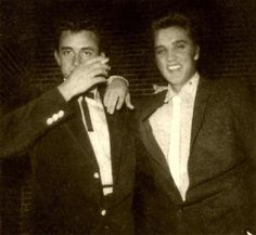 Johnny cash with Elvis