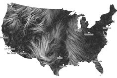 Wind Map: Revealing the Traces of Wind Flowing over the U.S. in Real-Time  infosthetics.com