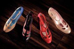 Ladies dance shoe by Saint Savoy, vintage inspired and hand made Saint Savoy Dancewear, vintage fashion on your feet!