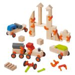 Haba Technics Vehicles Building Blocks Large Set -- my son zoomed in on this right away #oompatoys #habausa