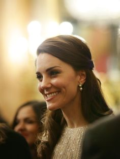 LONDON, ENGLAND - FEBRUARY 27: Catherine, Duchess of Cambridge attends a reception to mark the launch of the UK-India Year of Culture 2017 on February 27, 2017 in London, England. (Photo by Yui Mok - WPA Pool/Getty Images) via @AOL_Lifestyle Read more: https://www.aol.com/article/lifestyle/2017/02/27/kate-middleton-sparkles-erdem-buckingham-palace/21722958/?a_dgi=aolshare_pinterest#fullscreen
