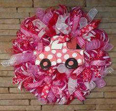 Valentine's Day Wreath, Valentines Day, Valentines Day Gift, Large Holiday Wreath by HandmadeGiftsbyBlue on Etsy