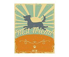 "PASTELOWE WALL DECO : Grafika na blasze ""Best Friend"""