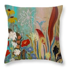 Daily Grace Throw Pillow by Robin Maria  Pedrero