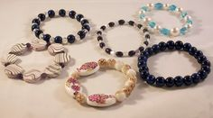 Women's Fun Stretch Bracelets by DaisysCrystals on Etsy