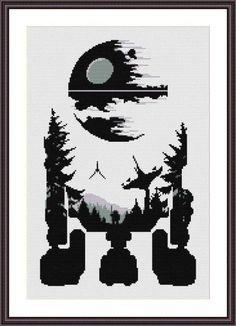 Star Wars Cross Stitch PDF pattern R2D2