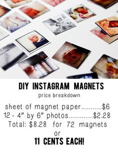 Photo magnets - Making our chore chart out of these. MUCH cheaper to order the magnet from hobby lobby and use 40% off coupon and ship than to buy from amazon.
