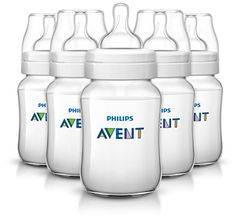 Philips AVENT Anti-Colic BPA Free Bottle, Clear, 9 Ounce,5 Piece - $27.99
