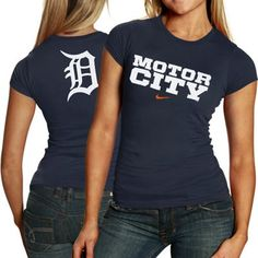 Nike Detroit Tigers Ladies Navy Blue Local T-shirt