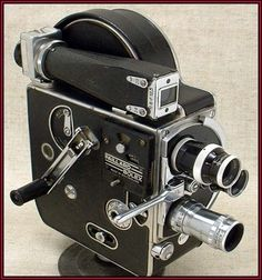 Classic 1945 BOLEX H8 professional 8mm movie camera with three lenses - http://mostbidded.com/ads/classic-1945-bolex-h8-professional-8mm-movie-camera-with-three-lenses