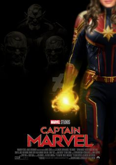Captain Marvel movie poster by ArkhamNatic on DeviantArt Captain Marvel Costume, Marvel Costumes, Marvel Movie Posters, Marvel Movies, Marvel Cinematic Universe, New Avengers Movie, Civil War Captain, The Old Republic