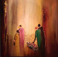 Werk van MixArt Kunstenares 'Mondeli'. http://www.mixart.be/drupal/?q=content/aanbidding